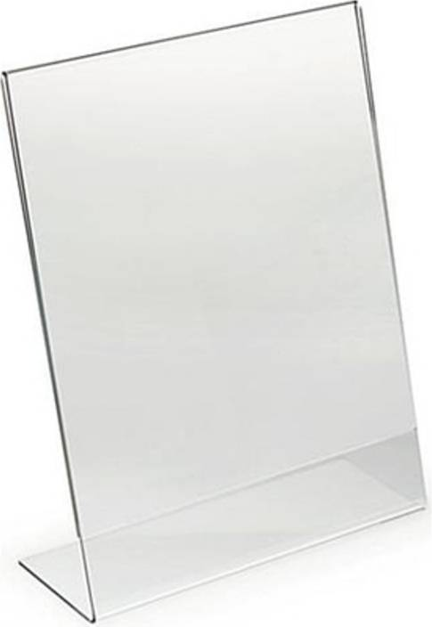 table display stands. delite acrylic table display stand frame - 10 pc set (85x55mm) 3.3 x 2.2 stands