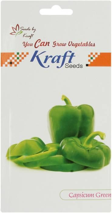 Kraft Seeds Capsicum Seeds (Pack of 5, Green) by Kraft Seeds Seed
