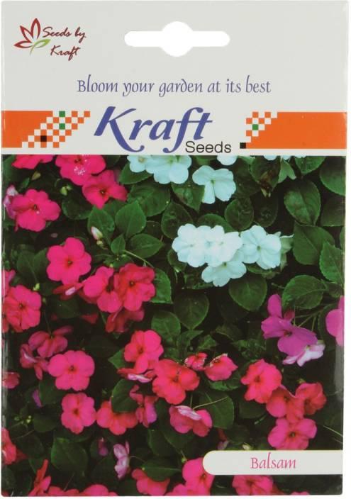 Kraft Seeds Balsam Tom Thumb Mix Seeds (Pack of 5) by Kraft Seeds Seed