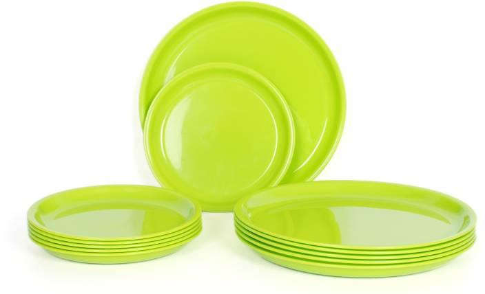 Gluman Microwave Safe Round Plate Set