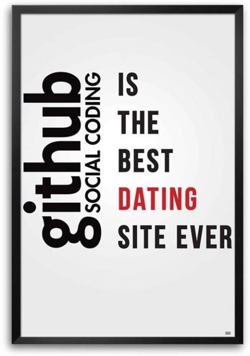 Github - Coding Dating Framed Photographic Paper - Abstract