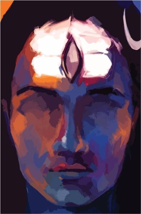 Shiva Third Eye Art Poster Paper Print 18 Inch X 12 Inch Rolled