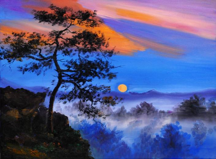 nature painting canvas art   nature posters in india   buy