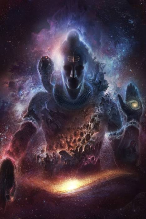 Athah Religious Poster Lord Shiva Paper Print