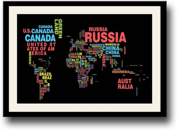 World map typography fine art print abstract posters in india world map typography fine art print gumiabroncs Image collections