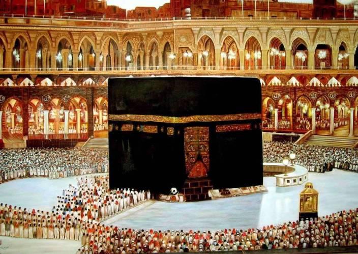 Painting Without Frame Religious Makka Madina 29 Canvas Art