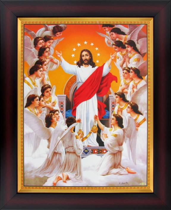 Jesus Christ Welcomes You To Heaven Poster Paper Print Art