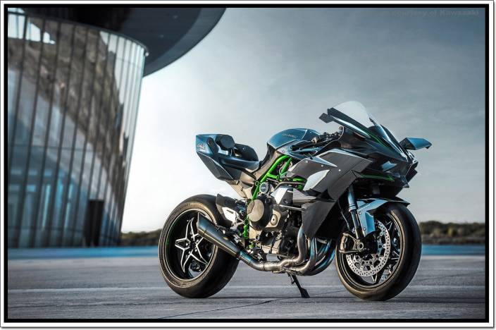 Kawasaki Ninja H2r Bike Poster Paper Print Vehicles Posters In