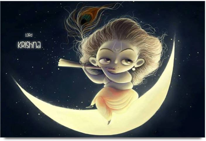 Amy Lord Little Krishna Seatting On Moon 3d Poster Nature Nature