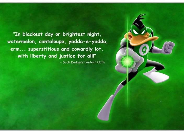 Eurekadesigns Duck Dodgers Lantern Oaths Quote Poster Paper Print