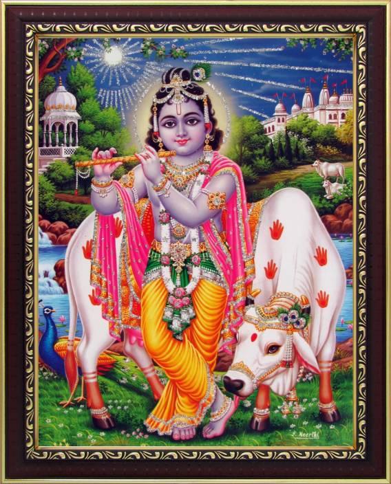 d2a29edd Lord Krishna / Shree Krishna Poster Paper Print (11 inch X 8.5 inch, Framed)