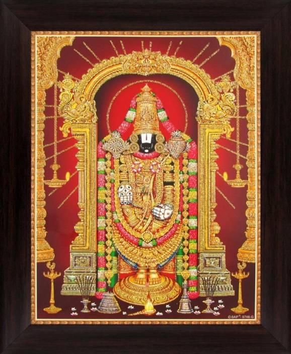 Lord Venkateswara Tirupati Balaji Vyankatesh Poster Paper Print
