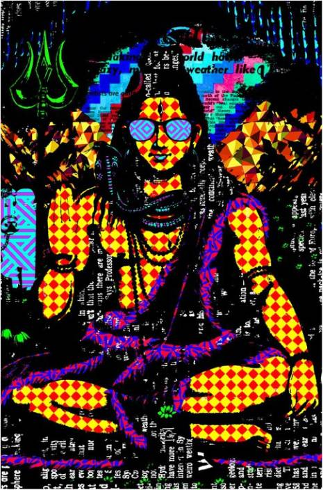 Psychedelic Shiva Trippy Poster Paper Print Pop Art Posters In