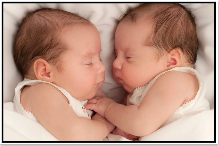 Twins Baby Poster Paper Print - Children posters in India