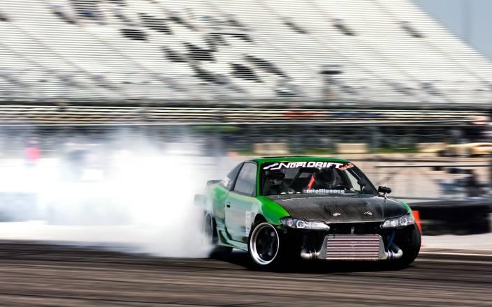 Akhuratha Poster Sports Racing Sport Car Smoke Drifting HD Wallpaper Background Fine Art Print