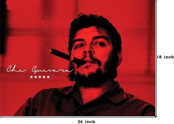 Che Guevara Smoking Cigar Paper Print (18 inch X 24 inch, Rolled)