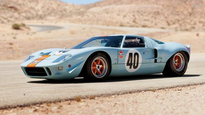Athah Ford Gt Side View Poster Paper Print