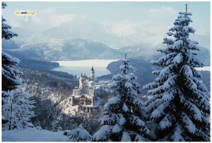 Pics And You Winter Season Themed 75 Wall Poster (300gsm Art