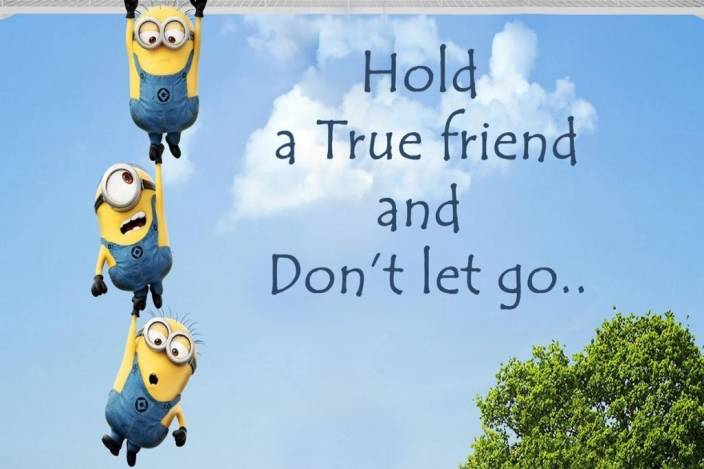 9808453d4 Minions Friendship Quote Poster Photographic Paper - Art & Paintings ...