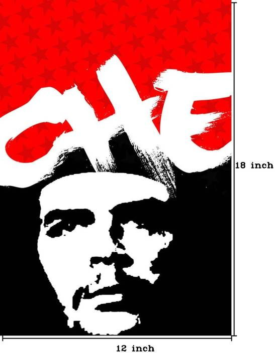 Che Guevara - Red and Black Paper Print - Personalities posters in ... 1110c19bcb