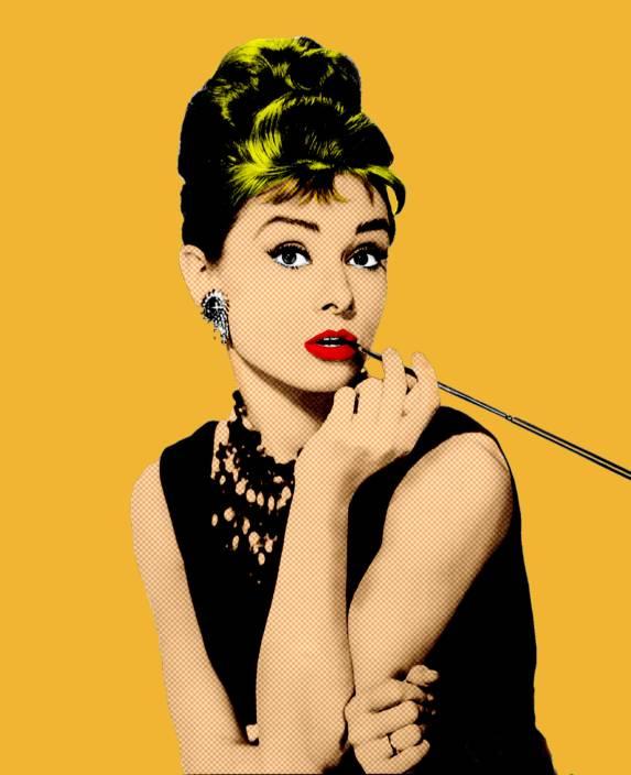 Audrey Hepburn PopArt Fine Art Print - Pop Art, Personalities ...