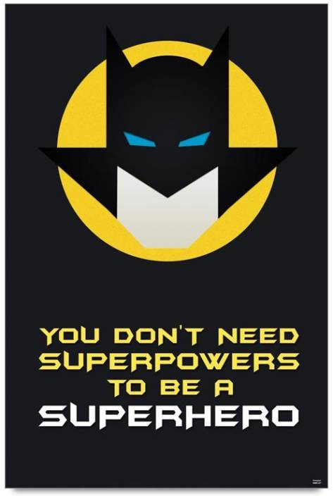 Bluegape Batman Superhero Quote Photographic Paper