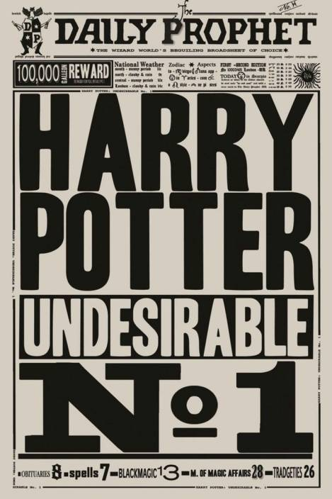 Athah Minimal Art Poster Daily Prophet Harry Potter
