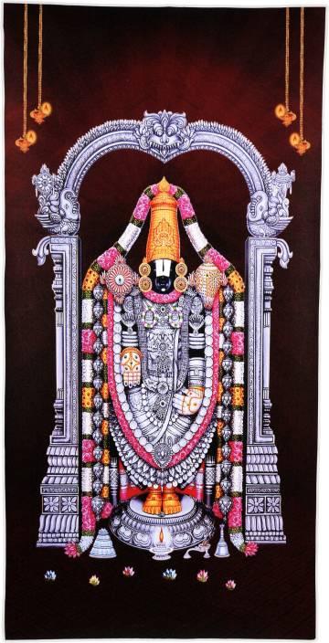 Tirupati Balaji Unframed Sparkle Wall Sticker Poster Vinyl 20 X 40