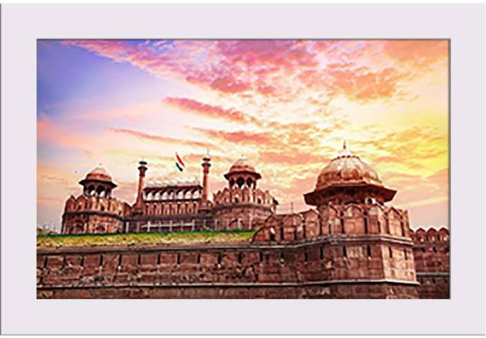 Lahore Gate Of Red Fort Delhi India Framed Art Print Canvas
