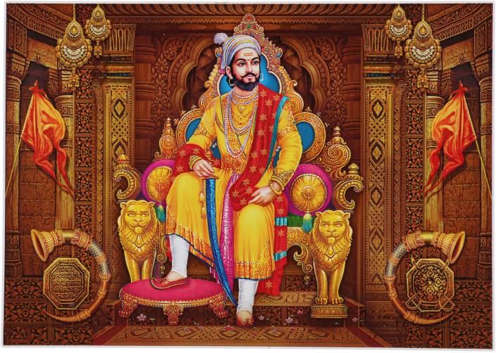 Shivaji Maharaj Unframed Wall Sticker Poster Big Vinyl 24 X 48