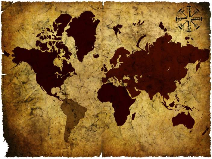 Vintage World Map - 03 Paper Print - Maps posters in India - Buy art ...