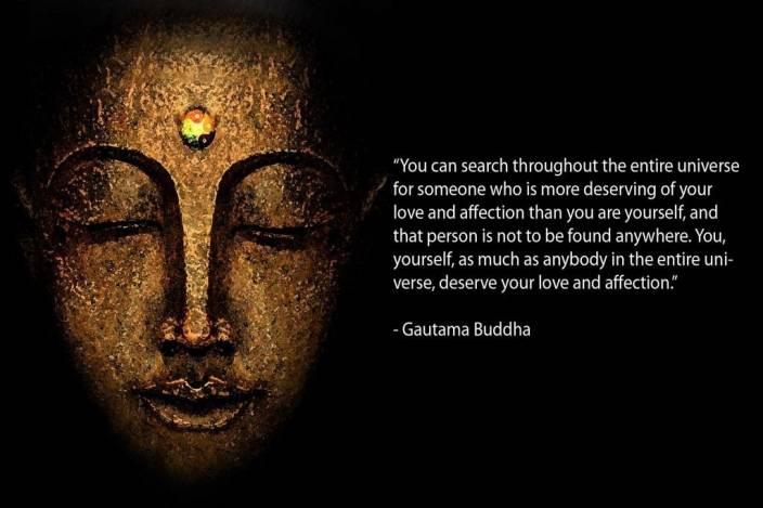 Gautam Buddha Quote Poster Photographic Paper