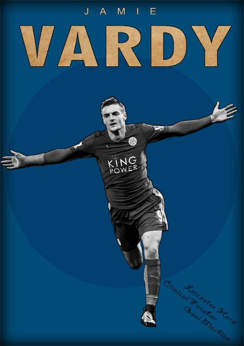 294fbac9dd3f Jamie Vardy Poster Paper Print (19 inch X 13 inch