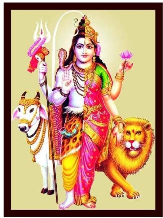 Lord Shiva And Parvathi 1 Canvas Art Religious Posters