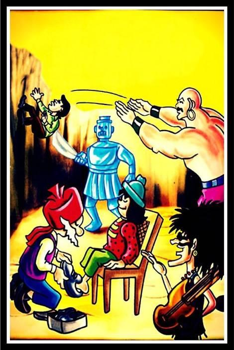 Printelligent chacha chaudhary comics poster - 10078 Paper