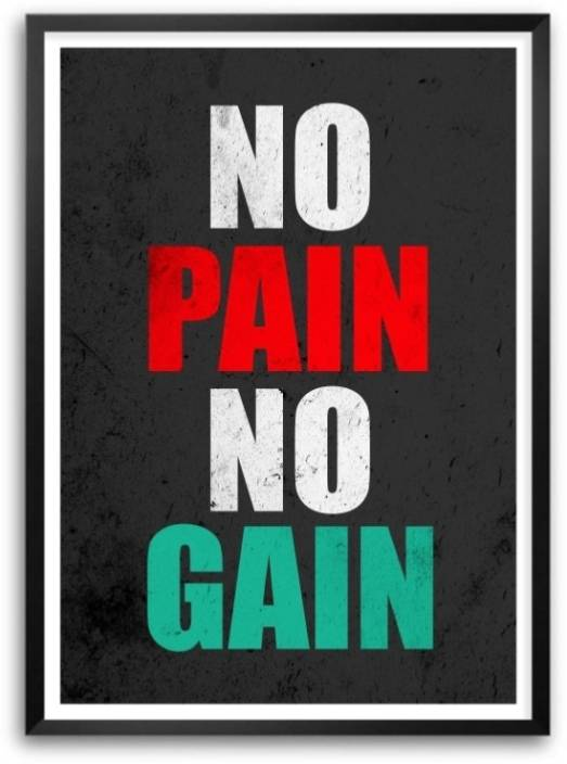 No Pain No Gain Motivating And Inspiring Gym And Fitness ...