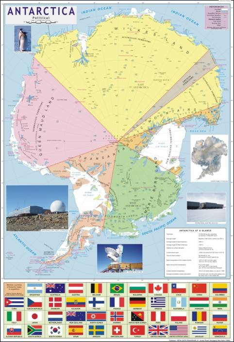 Antarctica political map paper print maps posters in india buy antarctica political map paper print gumiabroncs Image collections
