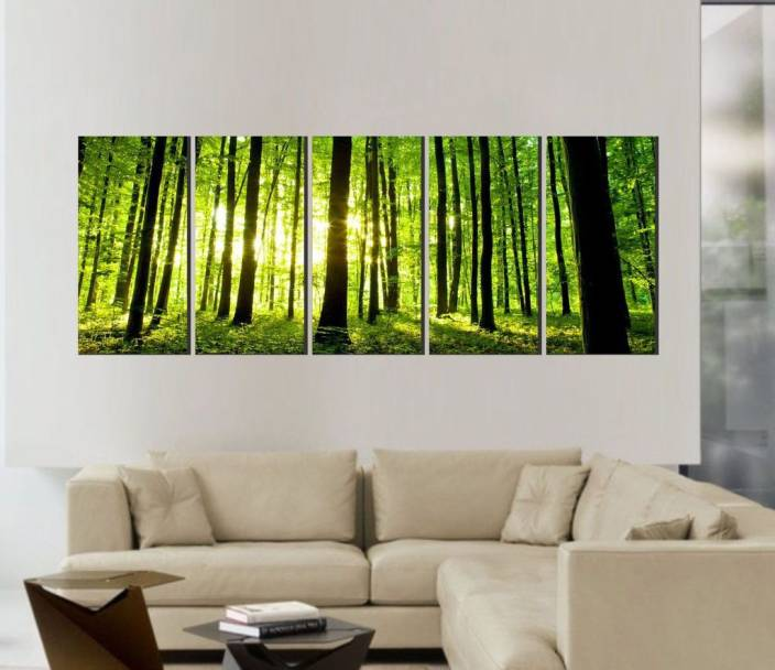 Decor Villa bamboo Five Piece Poster (63 x 32) Inch Paper Print ...
