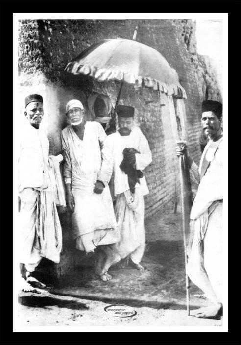 Old Sai Baba Framed Poster Paper Print