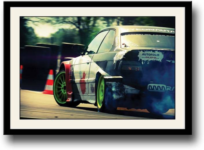 Drifting Super Car Fine Art Print