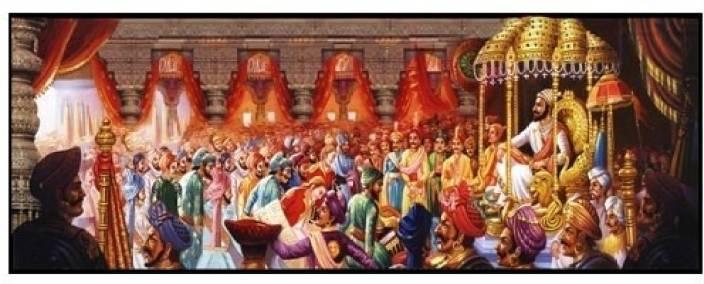Canvas Photo of Shivaji's Rajyabhishek -25 with Lakering Fine Art Print