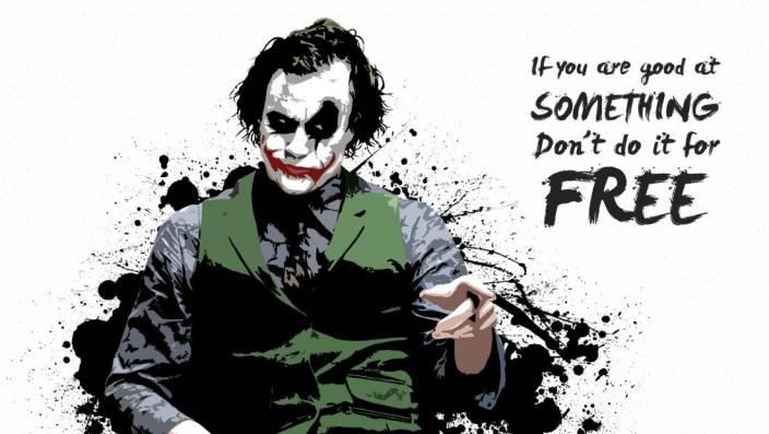 Athah Pop Art Poster Joker Quote Poster Paper Print Paper Print