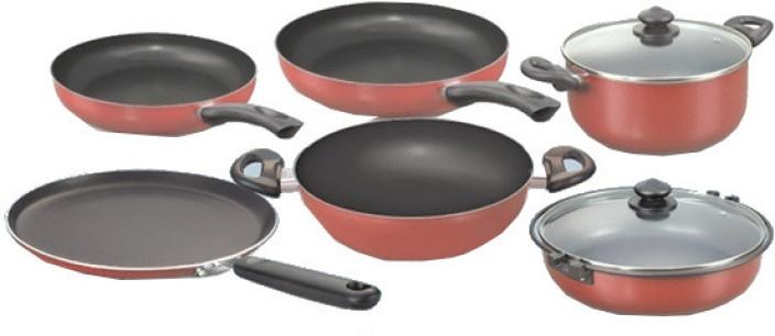 Prestige Omega Deluxe Kitchen In A Box Set Kadhai, Pot, Pan Set