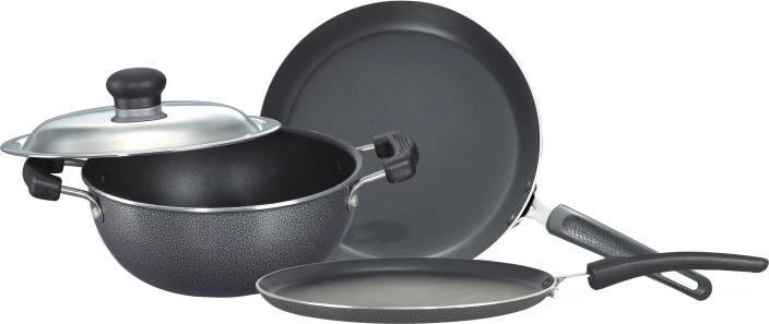Prestige Omega Select Plus BYK Non Stick Pan, Tawa, Kadhai Set