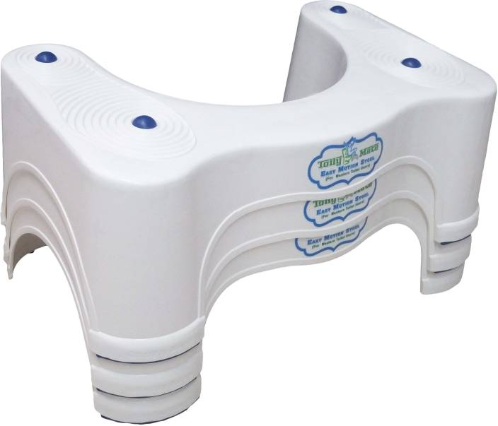 Toily Mate Toilet Stool For Western Mode Potty Seat White