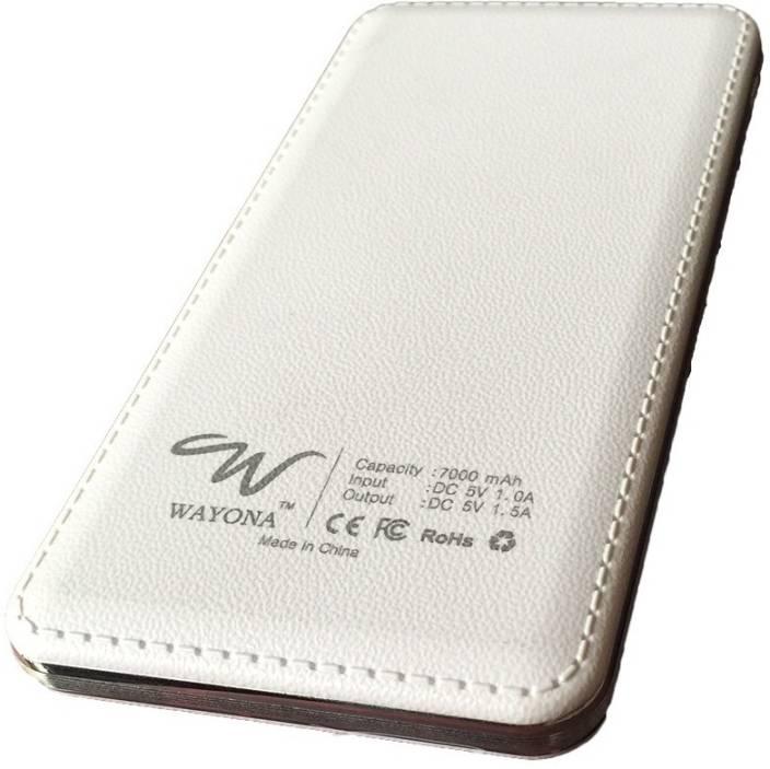 Wayona 7000 mAh Power Bank (W4, 7000 mAh Ultra Slim )