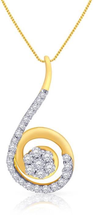 Malabar Gold and Diamonds P152552 18kt Diamond Yellow Gold Pendant