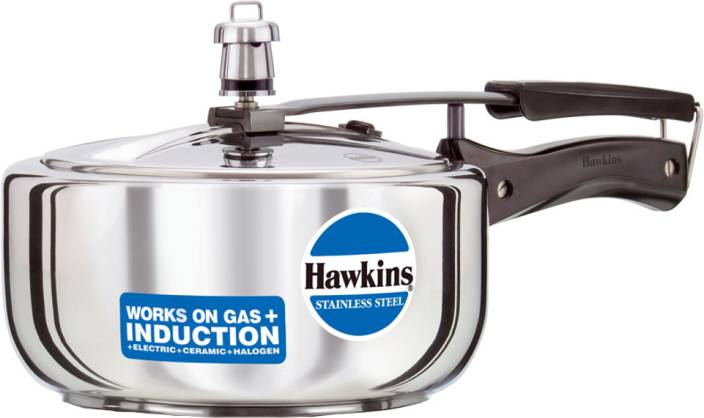 Hawkins Stainless Steel 3 L Pressure Cooker with Induction Bottom
