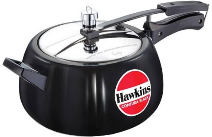 67853446e8f Hawkins Contura Black 5 L Pressure Cooker Price in India - Buy ...