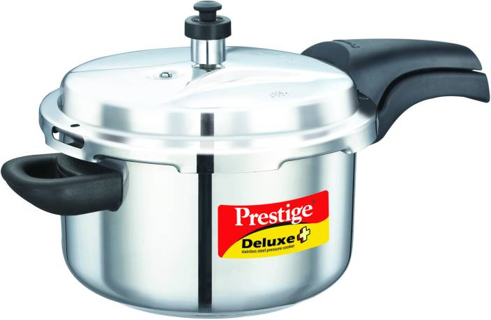 f2c0458a412 Prestige Deluxe Alpha 4 L Pressure Cooker with Induction Bottom (Stainless  Steel)